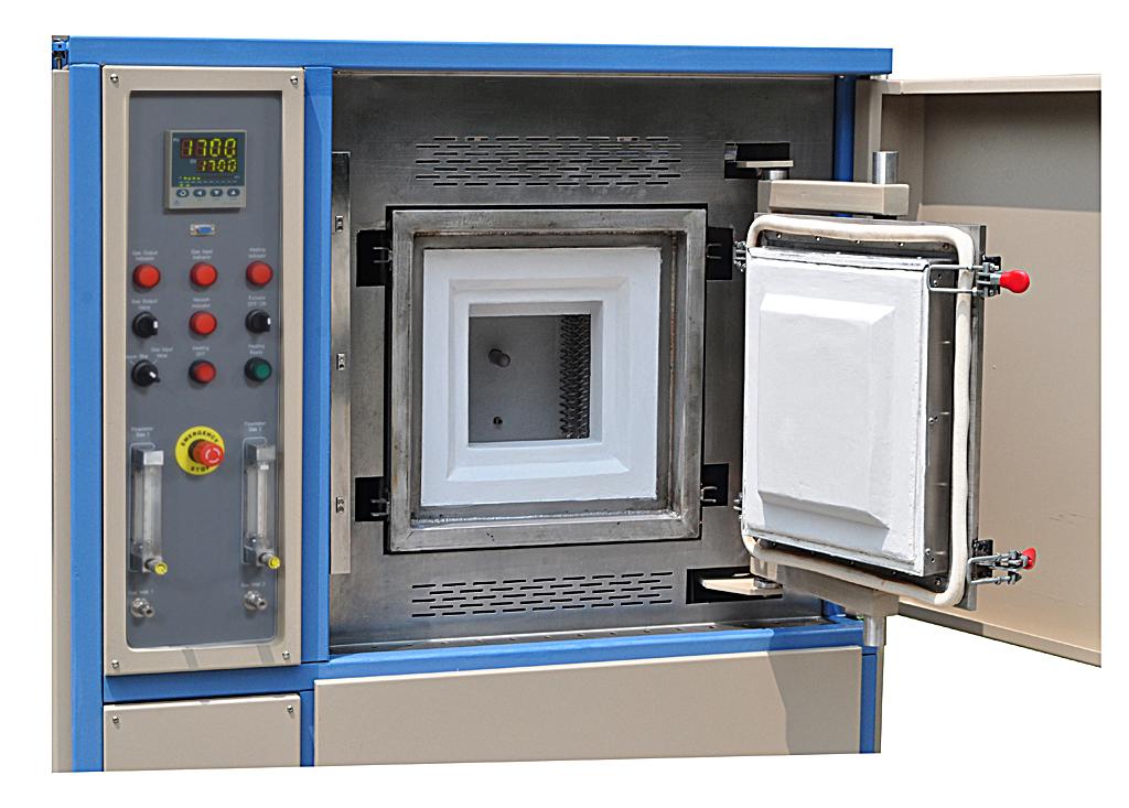 1700 176 C High Temperature Hydrogen Atmosphere Box Furnace 8