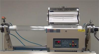Dual Tube 100 80 Mm Cvd Furnace With Sliding Fast